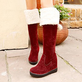 Ericdress Pompon Slip-On Plain Women's Winter Boots