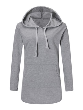 Ericdress Loose Thin Plain Mid-Length Cool Hoodie