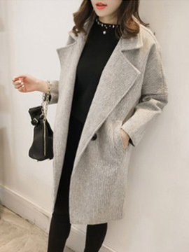 Ericdress Plain Oversized Mid-Length Coat