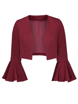 Ericdress Plus-Size Flare Sleeve Bomber Jacket