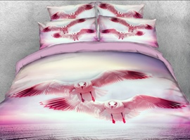 Vivilinen 3D Flying Seagull printed 4-Piece Bedding Sets/Duvet Covers