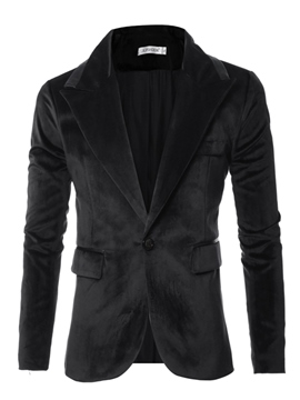 Ericdress Notched Lapel Slim Fit Men's Blazer