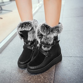 Ericdress Buckle Plain Women's Winter Snow Boots