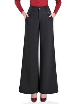 Ericdress Wide Leg High-Waist Women's Pants