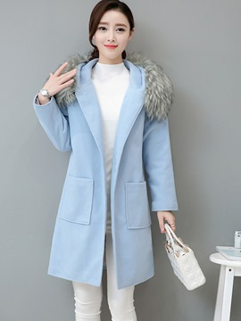 Ericdress Patchwork One Button Mid-Length Coat