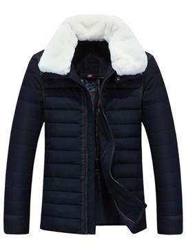 Ericdress Lapel Straight Thicken Men's Winter Jacket