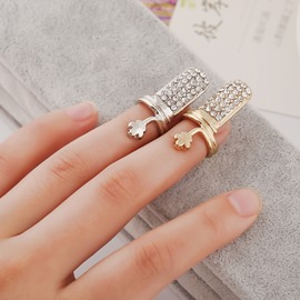 Ericdress Fully-Jewelled Nail Ring for Women