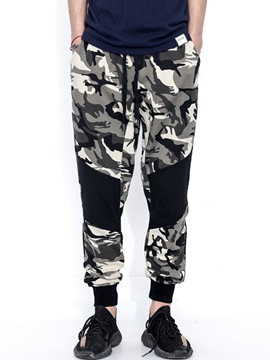 Ericdress Camouflage Patchwork Men's Loose Pants