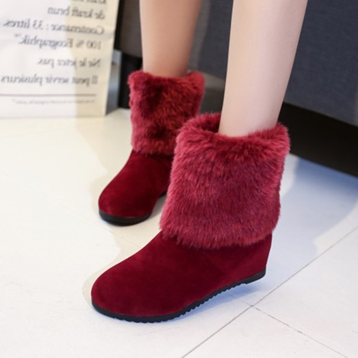 Ericdress Bowknot Decorated Round Toe Women's Snow Boots