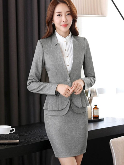 Ericdress Jacket and Bodycon Skirt Women's Suit