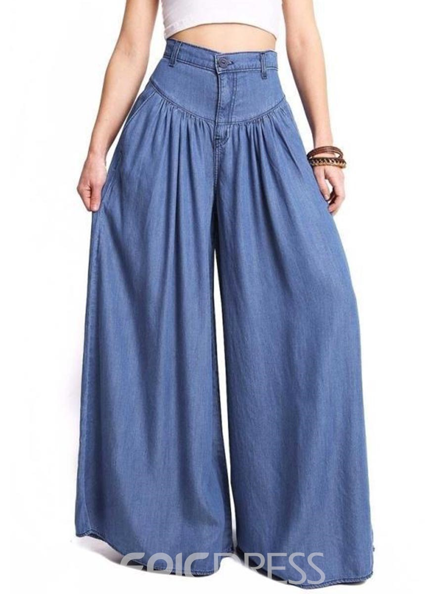Ericdress Loose Wide Leg Womens Pants