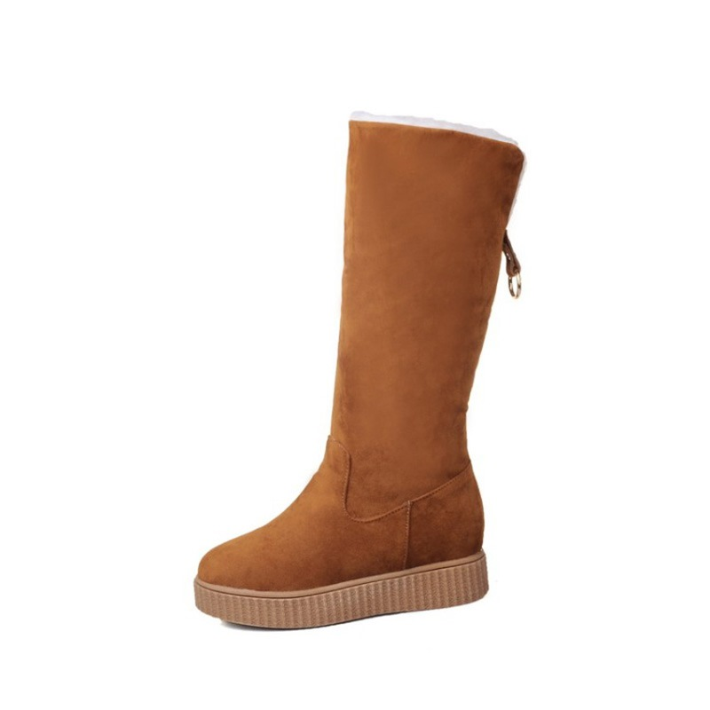 Ericdress Suede Plain Slip-On Women's Snow Boots