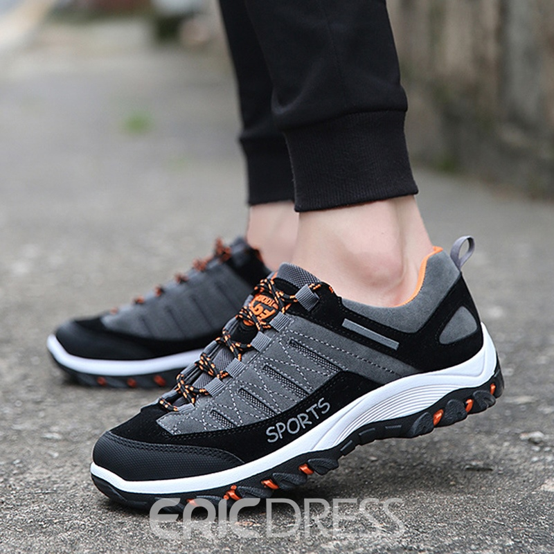 Ericdress Color Block Mid-Cut Men's Outdoors Athletic Shoes