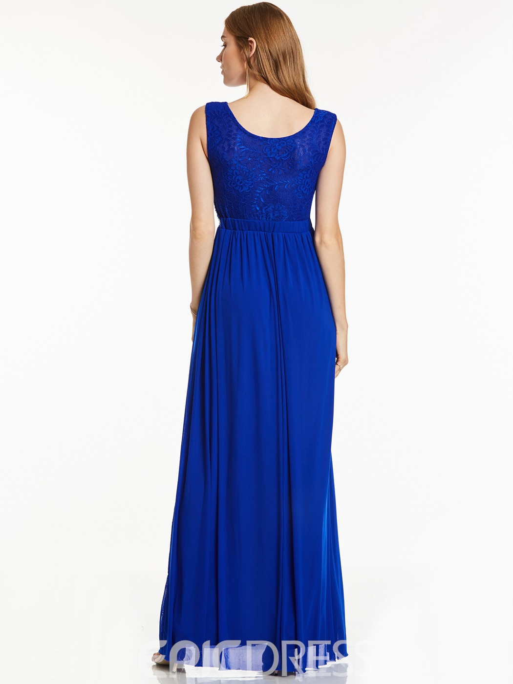 Ericdress Scoop Neck Sleeveless Beaded A Line Long Evening Dress