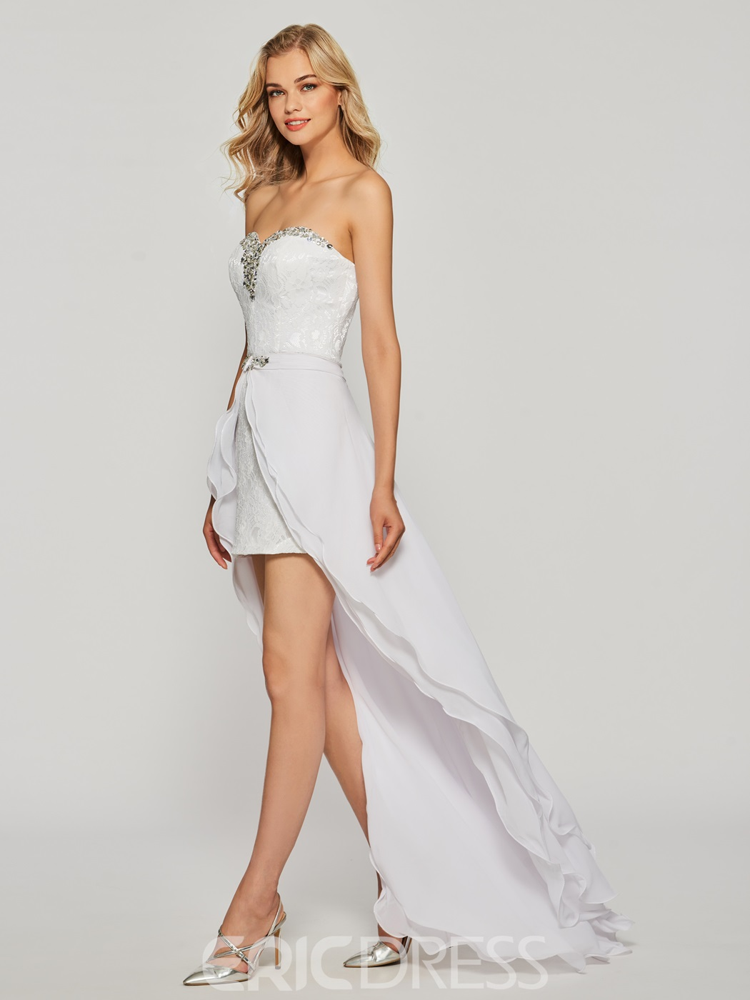 Ericdress Sheath Crystal Lace Sweetheart Cocktail Dress
