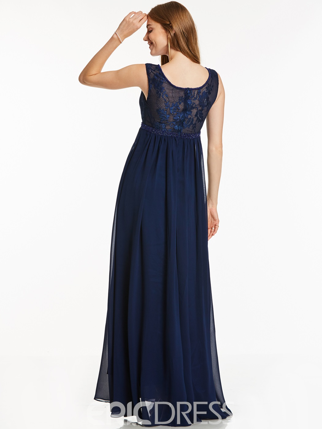 Ericdress Scoop Neck A Line Lace Evening Dress