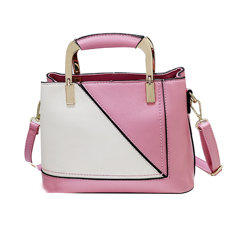 Ericdress Korean Style Patchwork Zipper Handbag