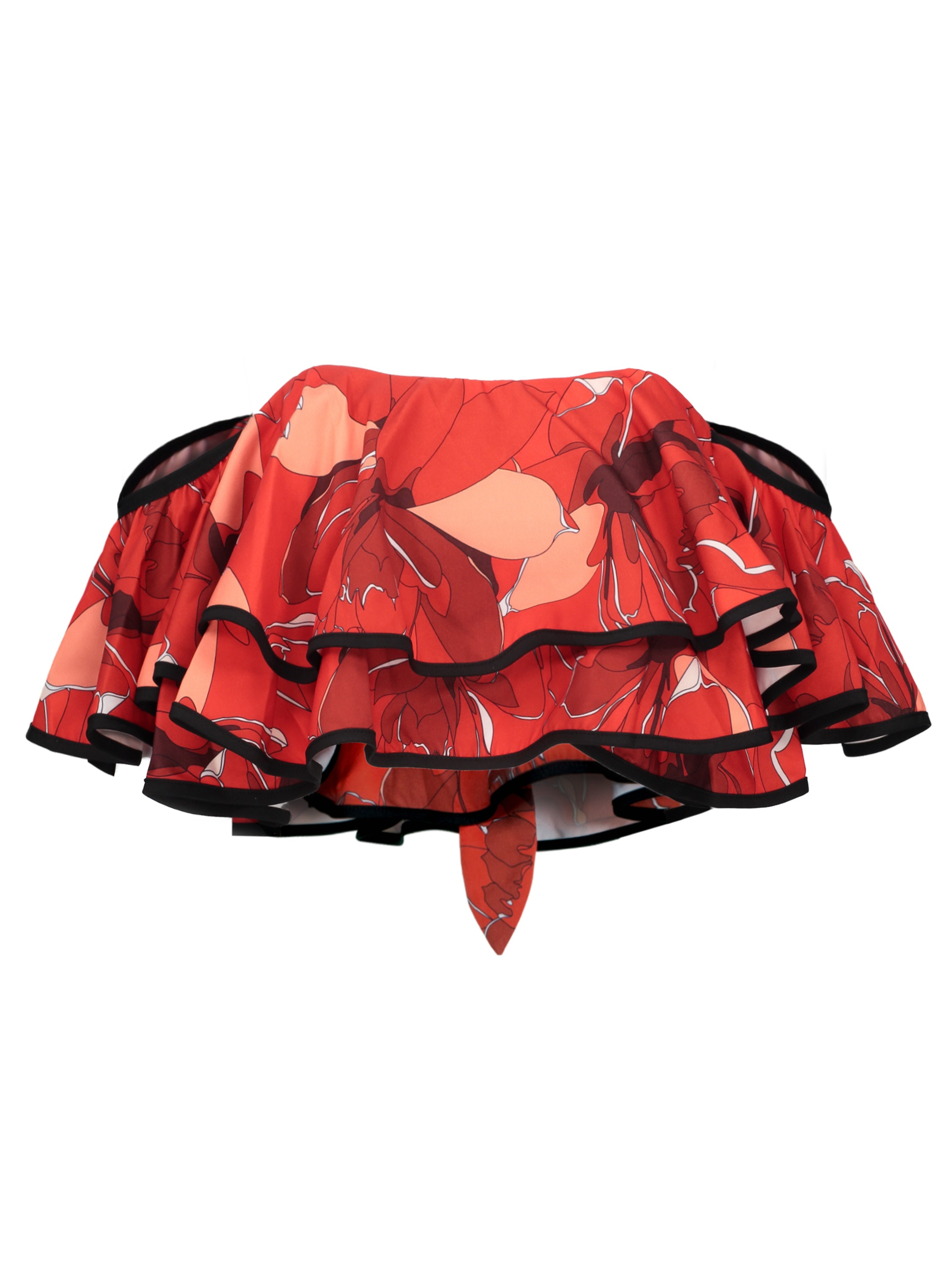 Ericdress Red Leaves Falbala Bowknot Vacation Tank Top