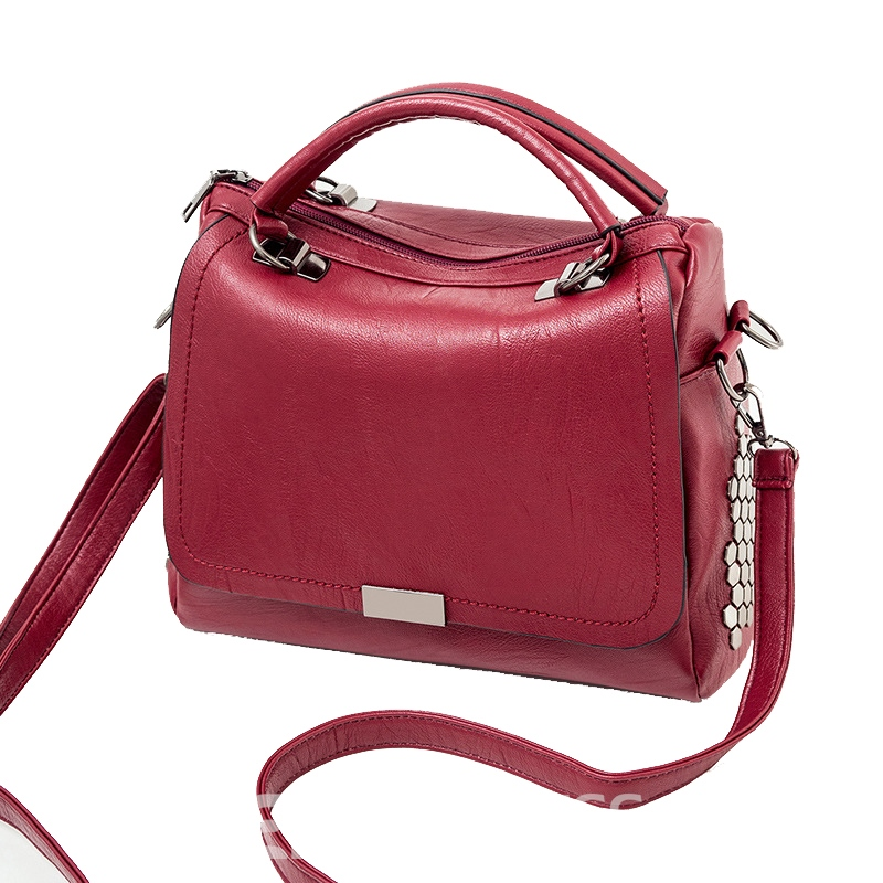 Ericdress Solid Color Women PU Handbag