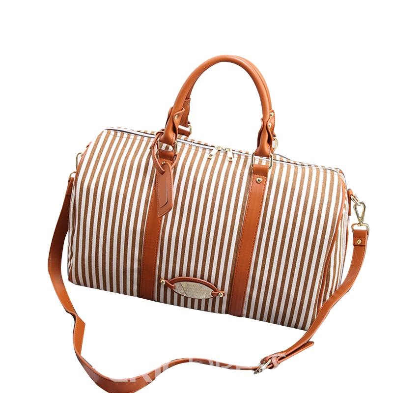 Ericdress Occident Style Vertical Stripes Women Handbag