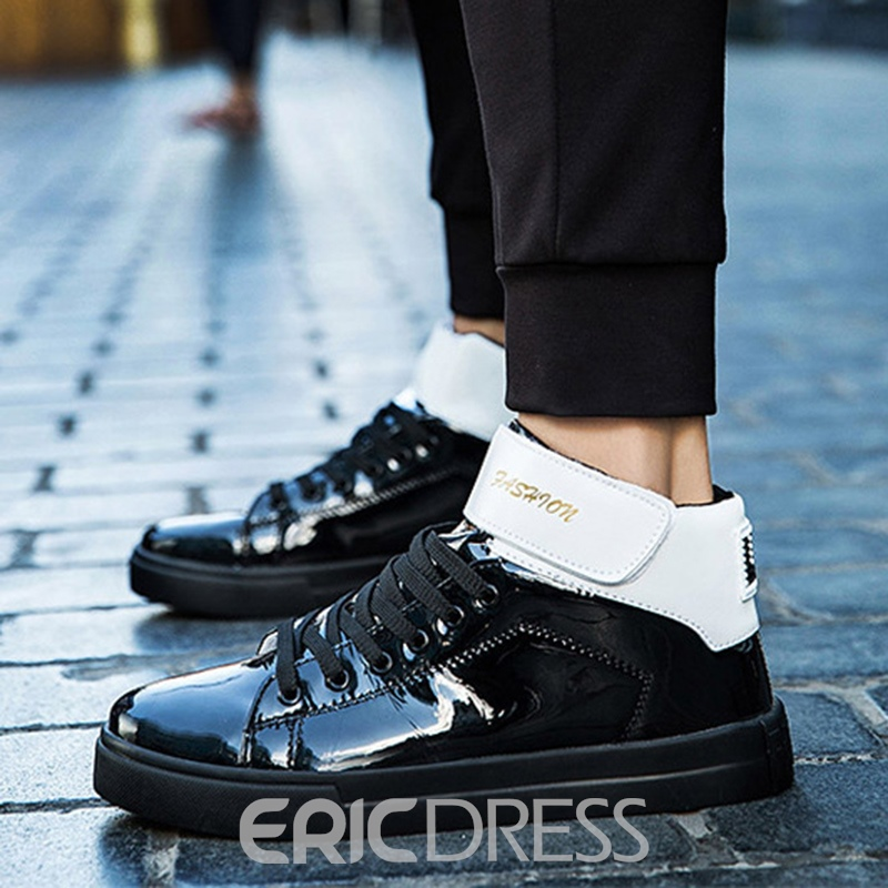 Ericdress Velcro Color Block Lace-Up Men's Sneakers