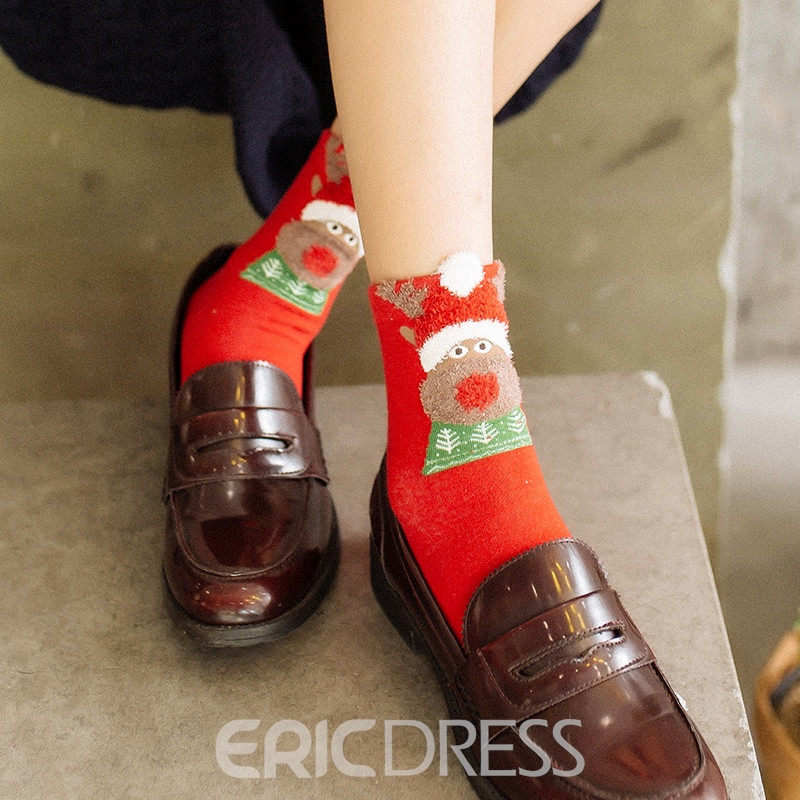Cute Animals Cheap Christmas Socks for Women