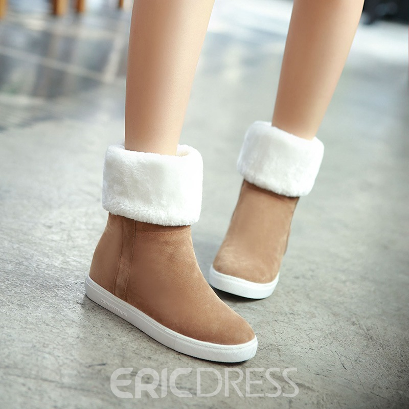 Ericdress Plain Slip-On Women's Snow Boots