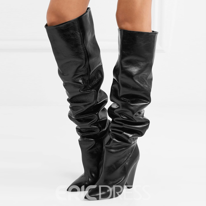 Ericdress Pointed Toe Women's Knee High Slouchy Boots