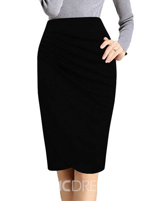 Ericdress High-Waist Pleated Bodycon Women's Skirt