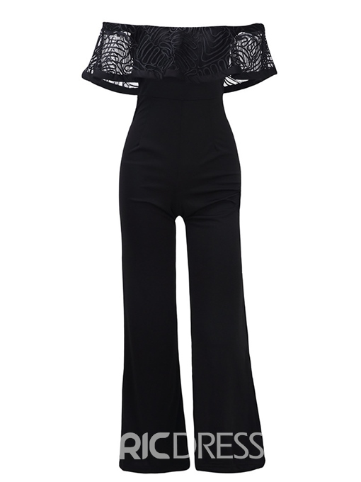 Ericdress Print Off Shoulder Women's Jumpsuit