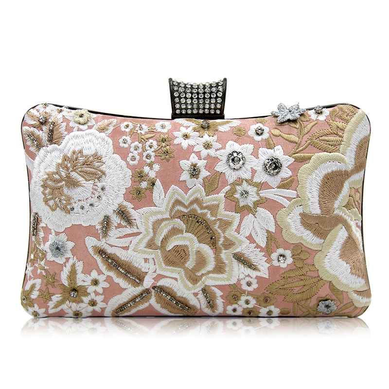 Ericdress Dignified Floral Embroidery Evening Clutch