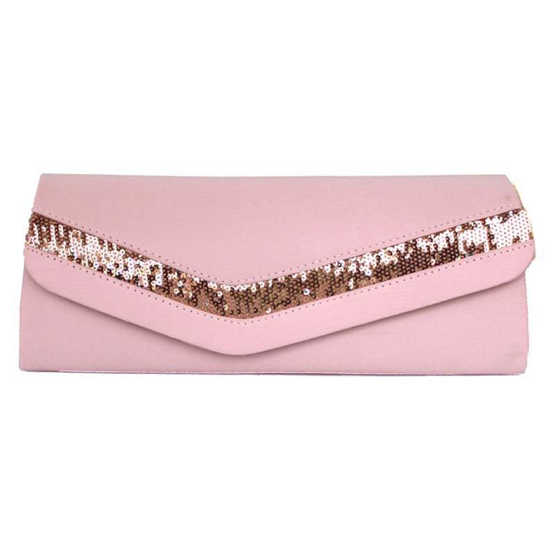 Ericdress Korean Style Solid Color Satin Clutch