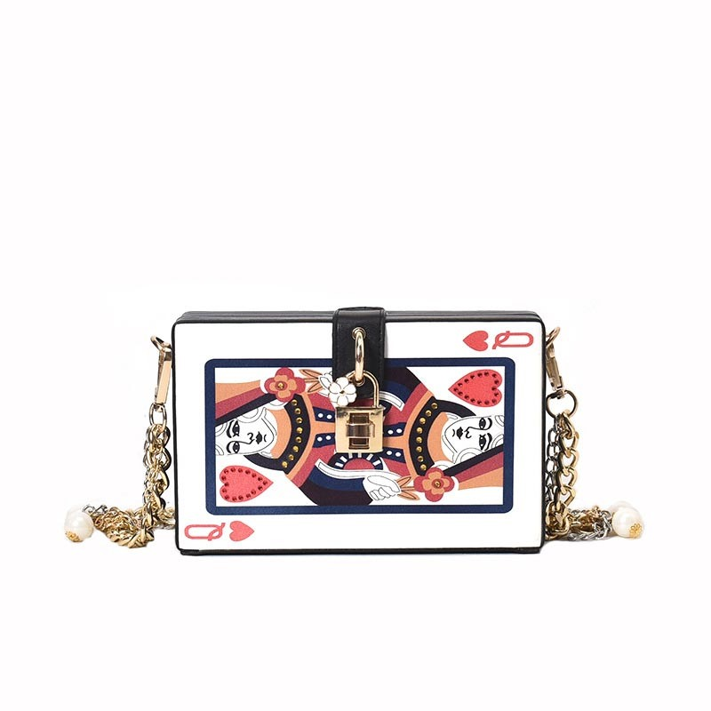 Ericdress Personality Poker Box Shape Crossbody Bag