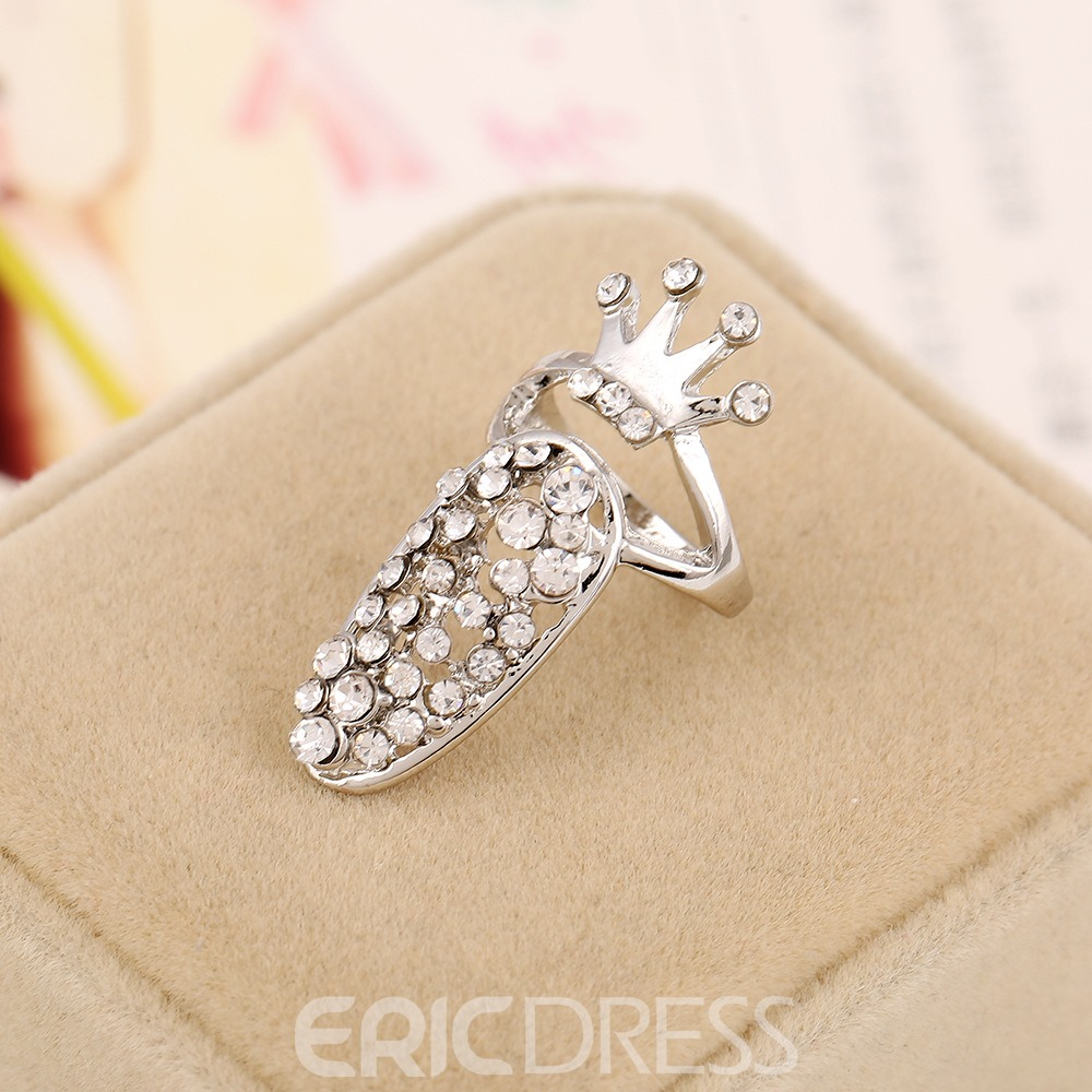 Ericdress Crown Diamante Hot Ring for Women
