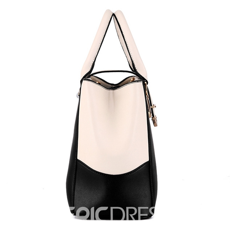 Ericdress Concise Color Block Women PU Handbag