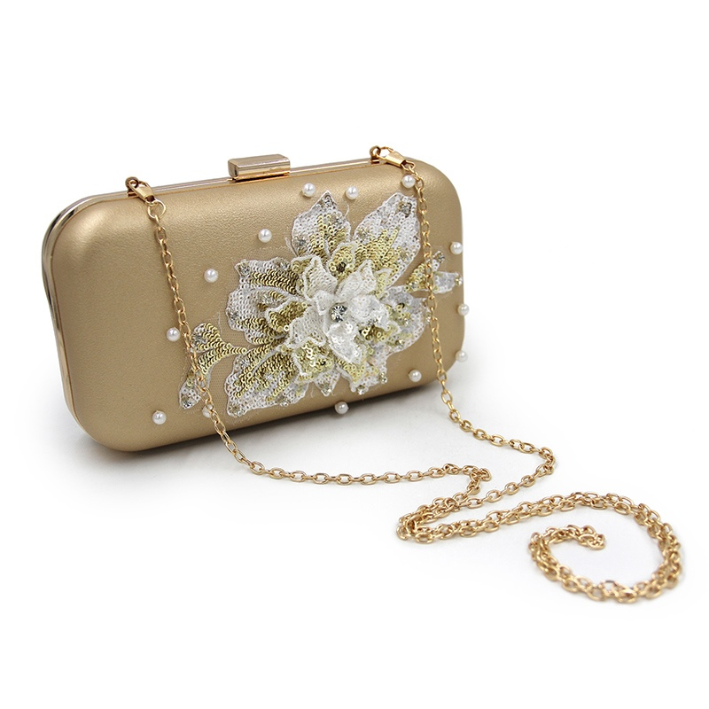 Ericdress Shining Sequins Floral Pattern Clutch