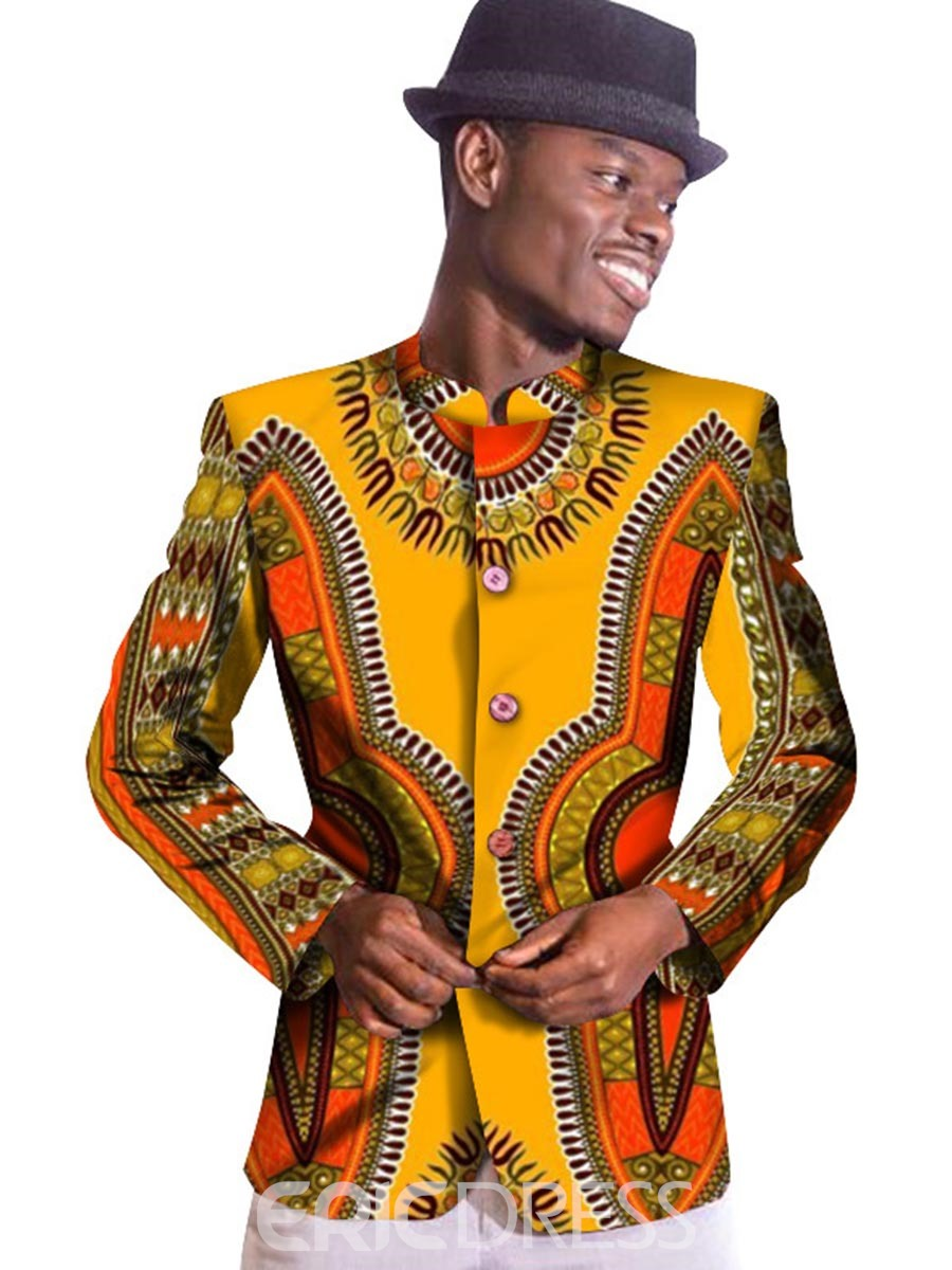 Ericdress Ethnic Style African Print Single-Brested Men's Blazer