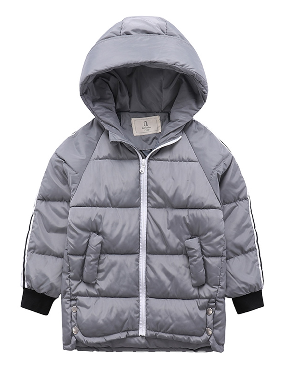 Ericdress Stripe Hooded Thick Boy's Down Jacket