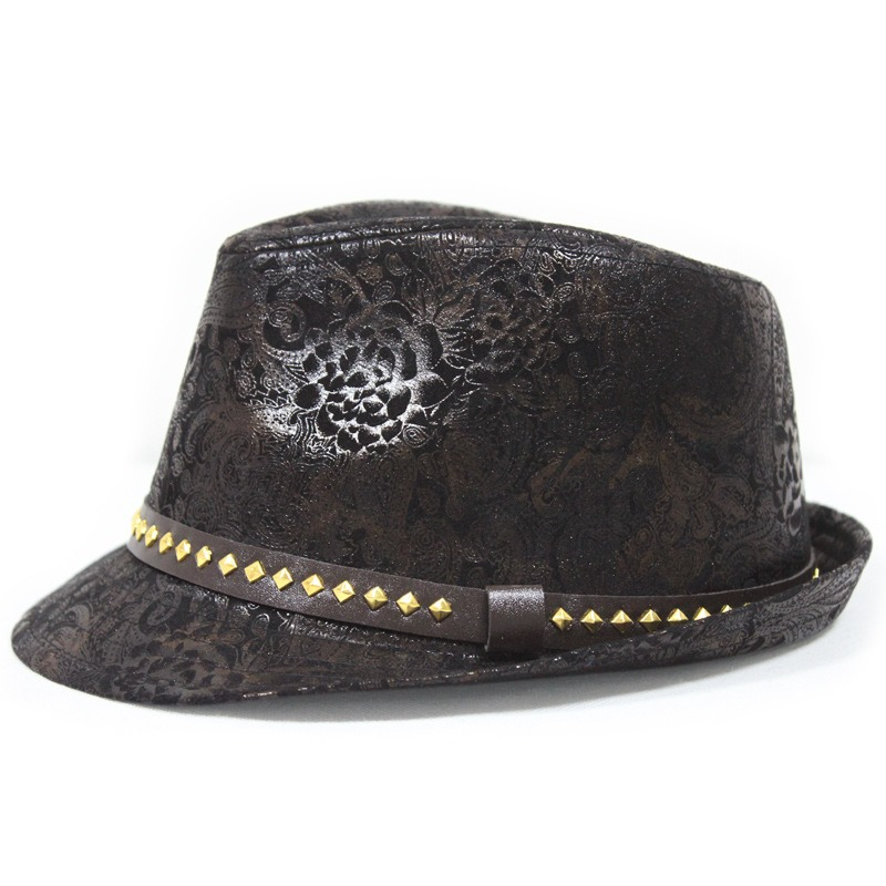 Ericdress British Style PU Rivet Gentlel Men's Hat