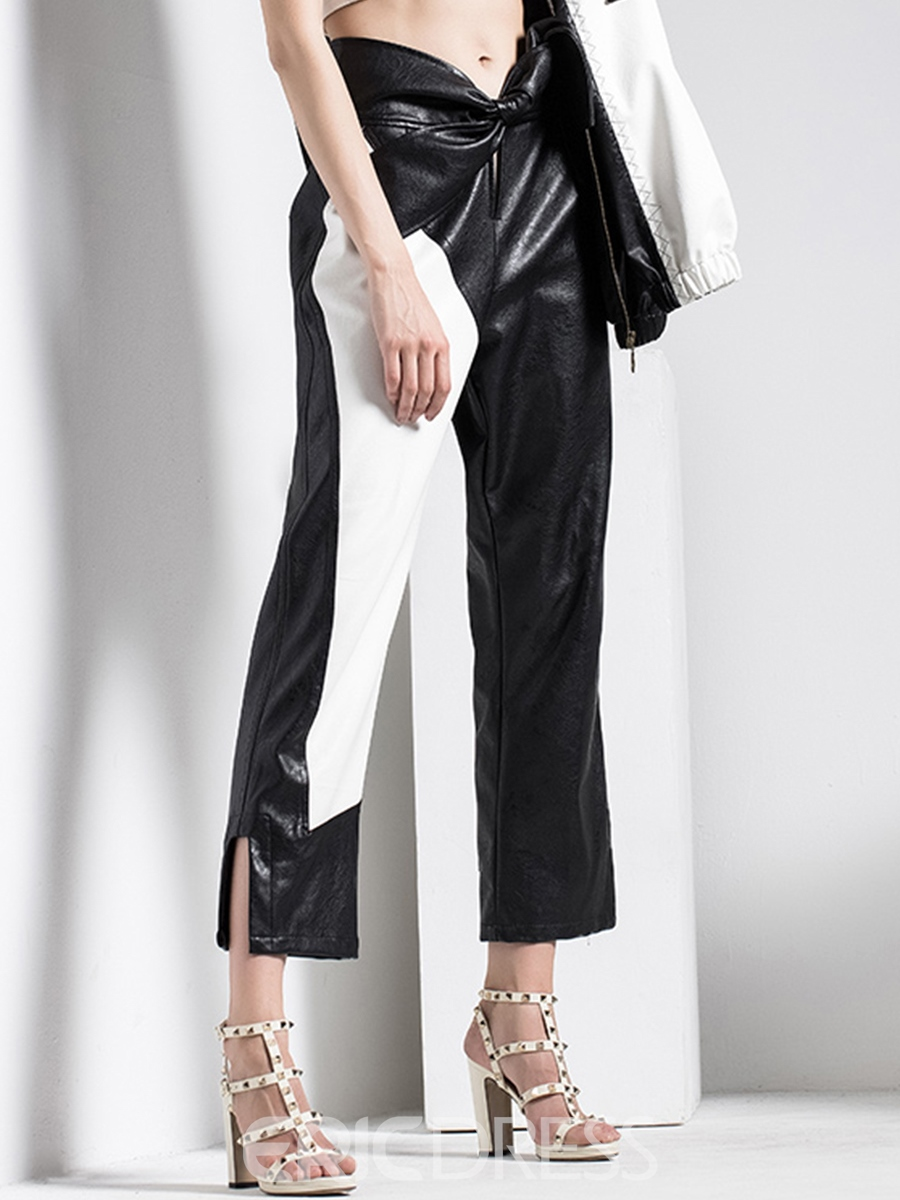 Ericdress Slim Color Block Women's Pants