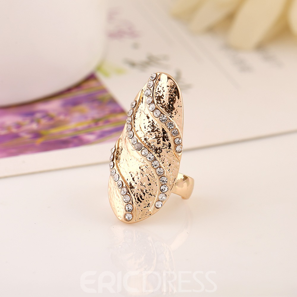 Ericdress Hot Diamante Nail Ring for Women