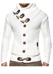 Ericdress Plain Shawl Neck Button European Style Mens Sweaters фото