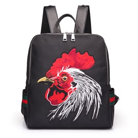 Ericdress Stylish Cock Embroidery Waterproof Nylon Backpack
