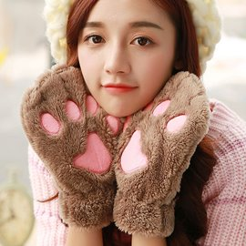 Ericdress Cartoon Claw Warm Thicken Women's Gloves