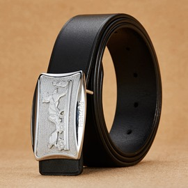 Ericdress High-End Leather Smooth Buckle Men's Belt