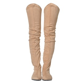 Ericdress Best-Selling Suede Plain Thigh High Boots