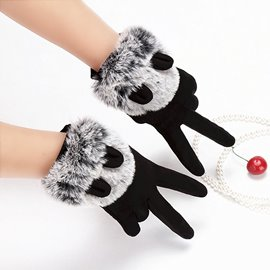 Ericdress Best Selling Cute Contrast Color Thicken Gloves