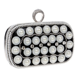 Ericdress Classic Pearl Decoration Evening Clutch