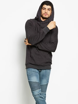 Ericdress Plain Simple Casual Men's Hoodie