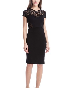Ericdress Lace Black Sexy Bodycon Dress